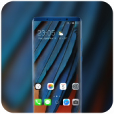 Theme for IOS-13 Blue Feather abstract wallpaper