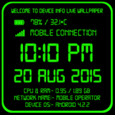 device info live wallpaper