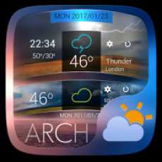 Arch GO Weather Widget Theme