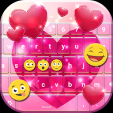 Glitter Heart Keyboard
