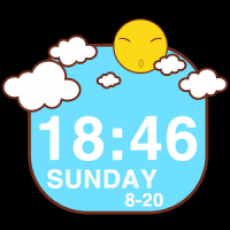 Sunshine Clock Widget