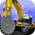 Up Hill Crane Cutter Excavator