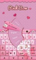 Pink Bow GO Keyboard Theme APK