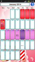 Woman diary (calendar) for PC
