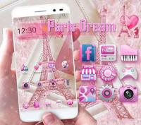 Pink Theme Eiffel Tower Love for PC