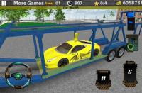 3D Car transport trailer truck APK