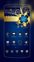 Golden Blue Flower for PC