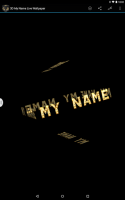 3D My Name Live Wallpaper for PC