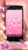 Pink Butterfly Live Wallpaper for PC