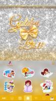 Golden Bow Kika Keyboard Theme APK