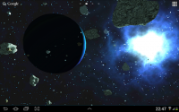 Asteroids 3D live wallpaper APK